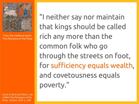 Sufficiency is Wealth